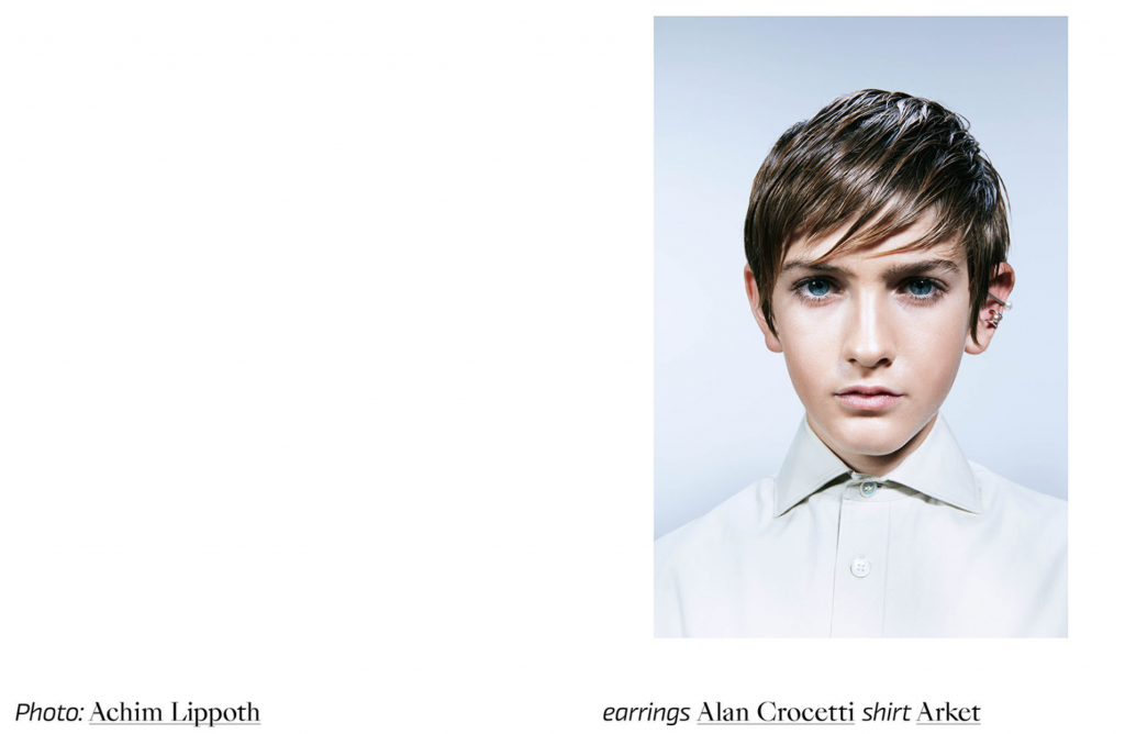 kid's wear magazine vol.46 Achim Lippoth Franziska Sonnabend hair and make up