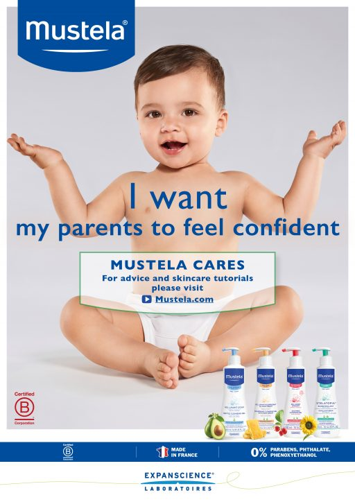 Hair and make up Baby skin mustela mua care