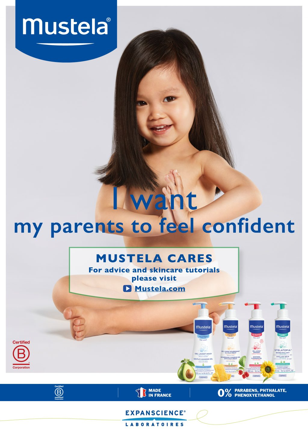 Hair and make up Baby skin mustela mua care